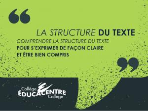La structure du texte